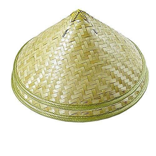 Zhou Langer traditioneller chinesischer Erwachsenenhut, orientalisch, für Garten, Eimerhut, Reishut, beige, 2 Stück