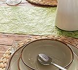 AmaCasa Tischläufer Ornament Wasserabweisend | Tischband mit Lotoseffekt | 30cm/20m | Grün | Dekorativ für Partys und andere Feierlichkeiten | Abwaschbarer Tischläufer zum wiederverwenden - 7