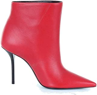 SAINT LAURENT Luxury Fashion Womens 5331620RR006805 Red Ankle Boots | Season Outlet