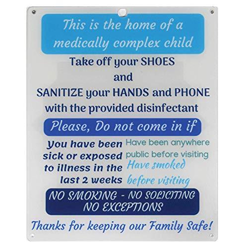 Rolling Buddies Medically Fragile Child Plastic Sign - White