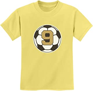 Tstars - 9 Year Old Ninth Birthday Gift Soccer Youth Kids T-Shirt