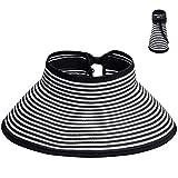 Maylisacc Sombreros de Sol para Mujer Sombrero de ala Ancha Plegable Sombrero de Playa de Verano Sombrero de Paja de Las señoras de Packable para Mujeres niñas UPF 50