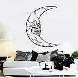 Luna Creciente Vinilo Pared Ventana Horror decoración Pegatina hogar Dormitorio Papel Pintado Arte Mural