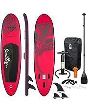 ECD Germany Tabla Hinchable Stand Up Paddle Board 305/308/320cm, de PVC, hasta 120/150 kg, Set Completo, Tabla de Surf Sup Board con Remo y Bomba de Inflado, Diversos Colores y Modelos