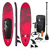 ECD Germany Tavola Gonfiabile Paddle Board Stand Up Limitless (SUP) 308 x 76 x 10 cm Rosa Diversi Modelli Pagaia in PVC Include Pompa Borsa da Trasporto e Accessori Surfboard Tavola Paddle Surf Board