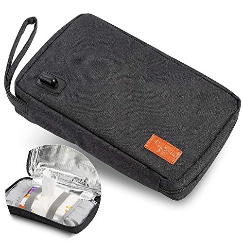 Portable Wipe Warmer, Lupantte USB Baby Wipes Warmer, Wipe Holder Case, Skin-Friendly Baby Wipes, Baby Wipe Dispenser. Power by Car Charger, Power Bank, or Any USB Power 5V 2A.