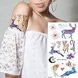 tzxdbh 7 Pz-Manica Tatuaggio temporaneo Braccio Tatuaggi Delfino Mare Rondine Tatuaggio Adesivo Ragazze Donna Moda Piccolo Tatoo Body Art Decalcomanie Animali 7 Pz-