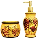 Tuscany-Grape-Hand-Painted-Ceramic-Collection-by-ACK-Soap-Dispenser-and-Sponge-Holder-Set