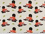 ab 1m: Baumwoll-Jersey für Kinder, kleiner Biber, grau,