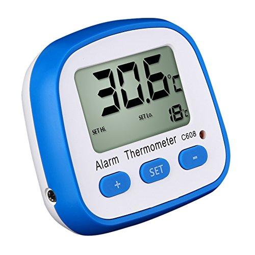 Domybest digitale thermometer, magnetisch, draagbaar, met alarm, LCD-scherm (type 1)