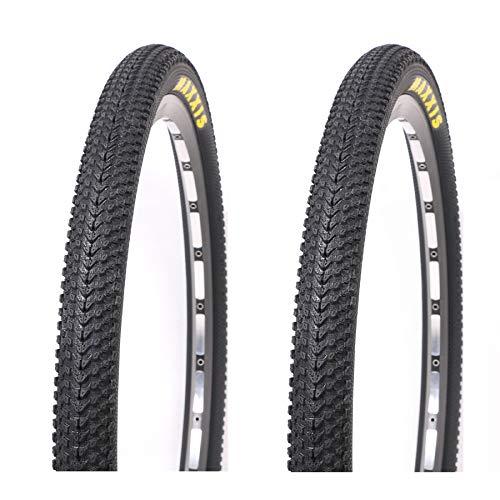 DUXIUYING 26/27.5 x 1.95/26 / 27.5 x2.1/29 * 2.1inch Neumáticos de Bicicleta de montaña, 60TPI Wire Bead Clincher Neumático de Bicicleta 2PC,26 * 1.95