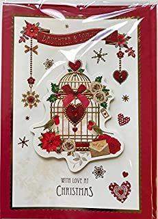 Hand Made Lovely Verse Both Of You Christmas New Card - DAUGHTER & SON-IN-LAW