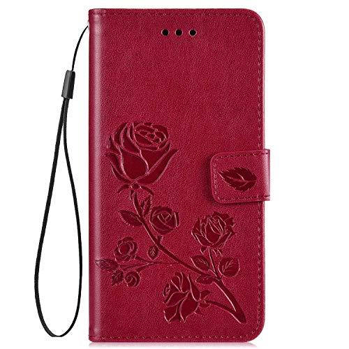 QPOLLY Cover Compatibile con Xiaomi Mi A2 Lite/Redmi 6 PRO Flip Caso Libro Pelle PU e TPU Silicone...
