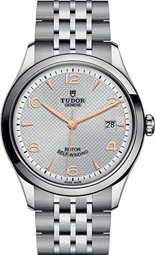 Tudor 1926 M91550-0001 - Reloj automático de esfera plateada de 39 mm