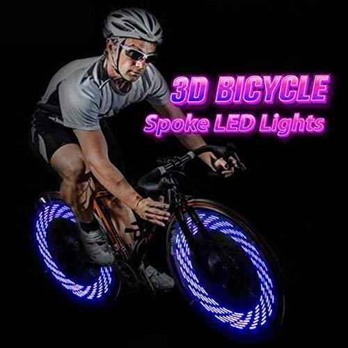 42 Pattern LED Colorful Bicycle Wheel Tire Spoke Signal Light For Bike Safety UK