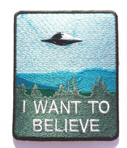Écusson brodé à thermocoller ou à coudre « I Want to Believe »