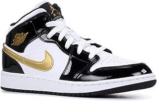 6ea7103cd04633 Jordan Air 1 Mid Se (Gs) (Black Metallic Gold-White