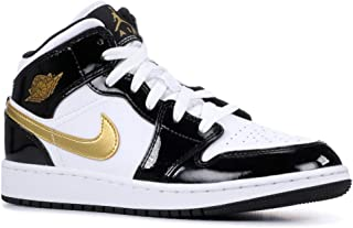 Jordan Air 1 Mid Se (Gs) (Black/Metallic Gold-White, 4Y)