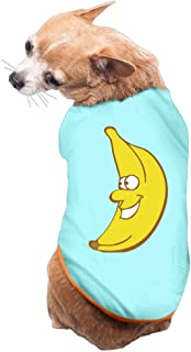 Expression Banana Dog Shirt Clothes For Pet Puppy Tee Shirts Dogs Costumes Cat Tank Top Vest L SkyBlue