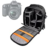 DURAGADGET Mochila Resistente Al Agua + Funda Impermeable para Canon EOS 80D   EOS-1D X Mark II   PowerShot G7 X Mark II   Canon PowerShot SX720 HS
