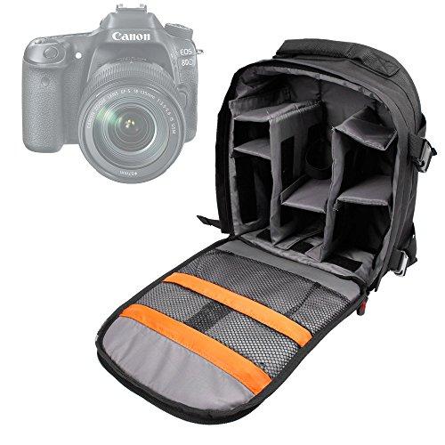 DURAGADGET Mochila para Cámara Canon EOS 1300D / Rebel T6 Resistente Al Agua + Funda Impermeable
