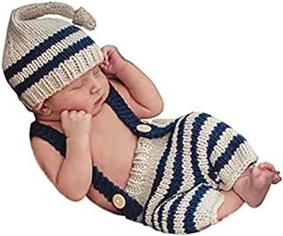 بدلة تصوير للأطفال حديثي الولادة من Sihgrog - أزياء ولطيفة مع نمط الرجل البيج، 0-3 أشهر