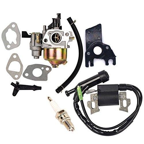 OuyFilters Repalce Carburador Bobina de Encendido con Bujía para Honda Gx160 Gx200 5hp 6.5hp Motor Generador Césped Motor