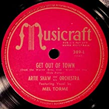 Artie Shaw Get Out of Town / Night and Day Musicraft 389 78 RPM V- MISPRINT