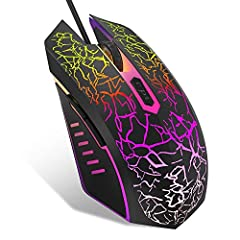Programmable & Fire Button: This computer mouse wired to support Macro editing with 8 mouse buttons which can be programmed with MEETION easy-to-program gaming software. The rapid Fire button gives you the edge during intensive FPS battles. Great val...
