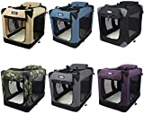 EliteField 3-Door Folding Soft Dog Crate, Indoor &...