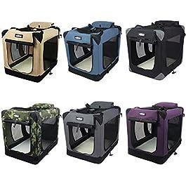 EliteField Beige 36″ 3-Door Soft Dog Crate, 36″ long x 24″ wide x 28″ high