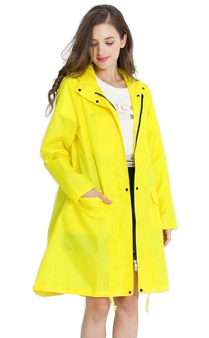 十分ではないシティペリスコープレインコート レインポンチョ女性 雨具ハイグレード品 綺麗 可愛い おしゃれ 薄くて軽い 自転車 通勤 通学 オシャレ 梅雨 雨具 防風 収納袋付 アウトドア用ウェア