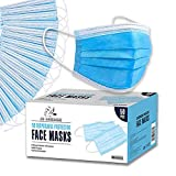 JB London Disposable 3-Layer Protective Face Masks, High Filterability, Suitable for Sensitive Skin (50)