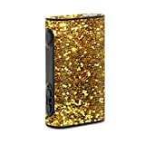 MightySkins Skin Compatible with Eleaf iStick Power 80W – Gold Glitter | Protective, Durable, and Unique Vinyl Decal wrap Cover | Easy to Apply, Remove, and Change Styles | Made in The USA