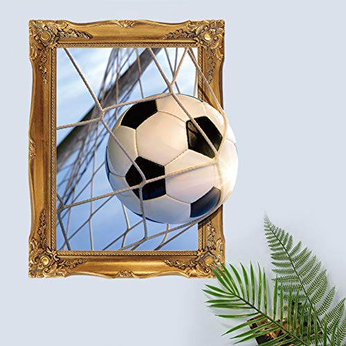 LNOFG 3D Football Wall Stickers Living Room Background Sports Home Decoration Mural Sticker Decal Wallpaper