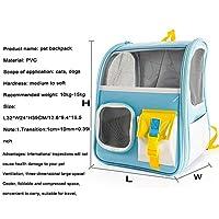 AOLM ペットの猫のキャリアバックパック透明travel実施スペースダブルショルダーバッグ小型犬猫ポータブルハンドバッグ屋外バッグ