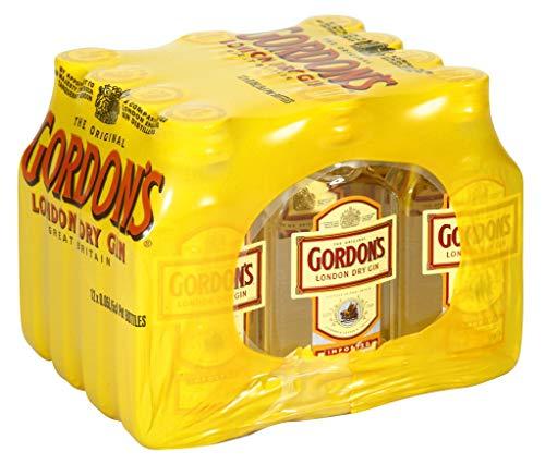 Pack 12 botellitas ginebra Gordons 50ml Miniatures
