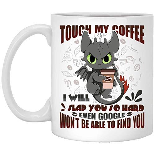 N\A To My Granddaughter Taza de café de cerámica Dragon Touch My Te abofetearé Tan Fuerte Que Incluso Google no podrá encontrarle Regalos de cumpleaños para Mujer, Cocina y Sala de Estar D & Eacute;