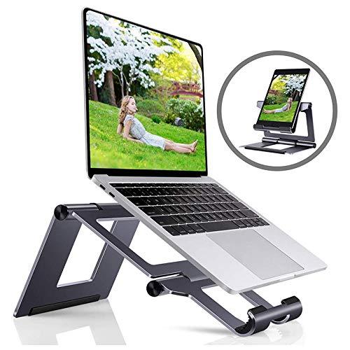 COCOCO Laptopständer Für Schreibtisch Aluminium Laptop Tablet Halter Computer Ständer Für Schreibtisch Kompatibel Mit Allen Tablets Handys & Laptops 10-17 Zoll