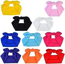 Miayon Women Headbands Headwraps Hair Bands Bows Accessories Turban Head Wraps Cotton 10pcs Solid Color Fashion Sport
