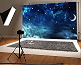 Yeele 7x5ft Moon and Star Photography Backdrop Galaxy Night Sky Nebula Could Moon BackgroundPictures Adult Artistic Portrait Photoshoot Props