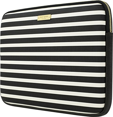 kate spade new york KSMB-012-FSQBC Printed Laptop Sleeve for 13' MacBook -Fairmont Square Black/Cream