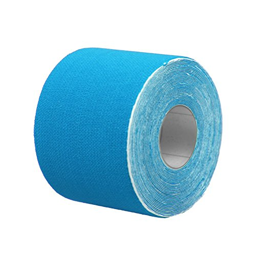 Winomo kinetisches Therapie-Sportband, für Knie/Ellenbogen/Handgelenke/Rücken/Schultern/Knöchel, 5cm x 5m (blau)