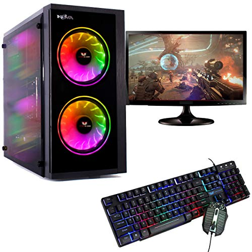 Veno Scorp Gaming Computer Package: 19 Monitor, AMD Ryzen 5 3400G Quad Core Vega 11 Graphics, 1TB HDD, 8GB DDR4, 1000MBPS WiFi, WINDOWS 10, RGB KEYBOARD & MOUSE