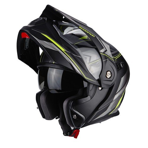 Scorpion Casco Moto adx-1 Núcleo, Matt black/neon yellow, xl
