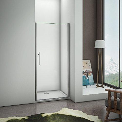 Porte doccia 70x185cm Per Nicchia Porta Apertura a Battente Verso Esterno Cristallo Temperato Trasparente Anticalcare