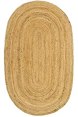 100% FIBRA NATURAL. Las alfombras de yute son biodegradables. Están tejidas con material vegetal natural. ELABORADAS A MANO. Diseño trenzado, muy fino. Alfombras duraderas y fáciles de cuidar. RESISTENCIA ALTA. Son adecuadas para uso en interiores, c...