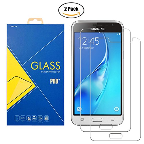[2 Pack] Protector Cristal Vidrio Templado Samsung Galaxy J3 (2016) ( SM-J320 / J320F / J320FN / J320F/DS / 320 ) – Pantalla Antigolpes y Resistente al Rayado