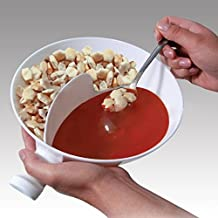 Virtue Separated Handle Home Isolated Bowl with Separated Snack Children Cereal Chips