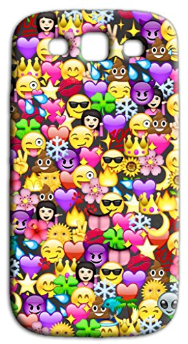 Mixroom - Cover Custodia Case in TPU Silicone Morbida per Samsung Galaxy S3 Neo i9301 i9300 Q239 Emoticon Faccine